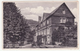 CARTE POSTALA SCRISA DIN GERMANIA - BAD WILDSTEIN, ANUL 1940, CU STRAGUL NAZIST CU ZWASTIKA PE CLADIRE, Circulata