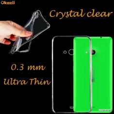 Husa Microsoft Lumia 535 Nokia TPU Ultra Thin 0.3mm Fumurie - Husa Telefon Nokia, Transparent, Gel TPU, Fara snur, Carcasa