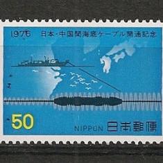 Japonia.1976 Montarea cablului de telefon cu China   CI.283