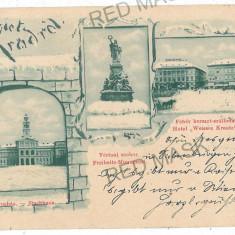 2805 - L i t h o, ARAD - old postcard - used - 1899 - Carte Postala Banat pana la 1904, Necirculata, Printata