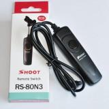 Cablu declansator telecomanda Shoot  pentru Canon 5D, 6D, 1D, etc. RS-80N3