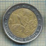 5030  MONEDA - ITALIA - 2 EURO -CONSTITUTIA EUROPEANA -2005 -starea care se vede