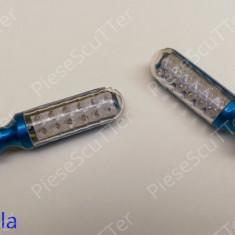 Set Semnale / semnal / semnalizari moto scuter LED ( albastru ) - Semnalizare Moto