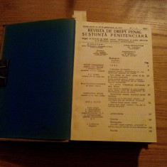 REVISTA DE DREPT PENAL SI STIINTA PENITENCIARA - I. Teodorescu - 1934 * 1935 - Carte Drept penal