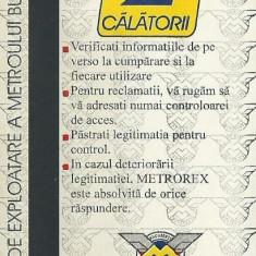 Cartela metrou / metrorex (1996) - Cartela telefonica romaneasca