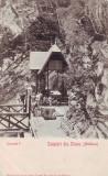 Ok-1546- Romania, Salut. Slanic Moldova carte post. UPU necirc. 1902: Isvorul I.
