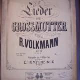 R. VOLKMANN - 12 LIEDURI (partituri vechi vioara si pian)