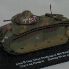 3455.Macheta tanc Char B1 Bis - France - 1940 scara 1:72 - Macheta auto