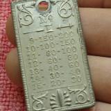 placa cu specificatii tehnice din metal pentru masina de cusut Singer !!!