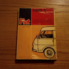 FIAT 1100 T * TIPO 217 D  -- Catalogo Parti di Ricambio --  Torino, 1963