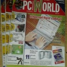 Revista PC World  -  lot 3 reviste nr.3(CD), 4(CD) ,5  / 2004