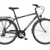 Vand bicicleta bianchi - Bicicleta de oras, 22 inch, 24 inch, Numar viteze: 7, Otel, Negru