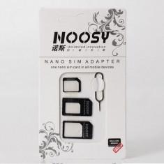 Set adaptor 3 in 1 Micro Sim si Nano Sim la Sim normal + cheita iPhone - Adaptor microsim