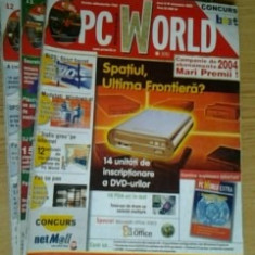 Revista PC World - lot 3 reviste nr. 10, 11, 12 / 2003 - Revista IT