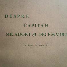 C-TIN PAPANACE DESPRE CAPITAN NICADORI SI DECEMVIRI 1963 46P MISCAREA LEGIONARA