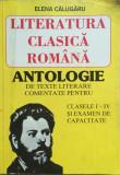 LITERATURA CLASICA ROMANA ANTOLOGIE CLS I-IV SI EXAMEN CAPACITATE Elena Calugaru