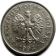 POLONIA, 1 ZLOT 1994, VULTUR INCORONAT ! DIAMETRU 23mm. !!!, Europa