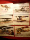 Set 12 +3 Ilustrate - Avioane Cehoslovacia - Muzeul Aviatiei Cehe, Necirculata