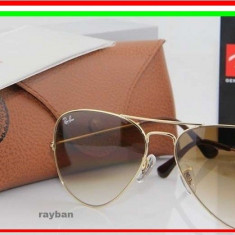 Ray Ban RB3025 001/51  Model Aviator Lentila MARO IN DEGRADE Rama Aurie