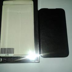 Husa Toc Flip Piele Eco LG OPTIMUS L70 - Husa Telefon Belkin, Negru, Cu clapeta