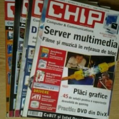 Revista CHIP  -  lot 4   reviste , nr.1 , 3 , 4 , 10  / 2005