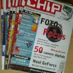 Revista CHIP  -  lot 8 reviste , nr.1 , 2(CD), 4 (CD) , 6 ,8 ,9 , 11 , 12 / 2004