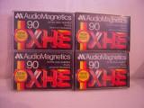 Vand set 4 casete Audio Magnetics XHE 90,originala,raritate!