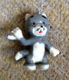 Figurina jucarie romanesca pisica desene animate, cauciuc, vechi anii 80
