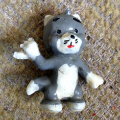 Figurina jucarie romanesca pisica desene animate, cauciuc, vechi anii 80 - Figurina Desene animate