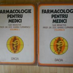 BARBU CUPARENCU--FARMACOLOGIE PENTRU MEDICI 2 VOL. - Carte Farmacologie