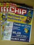 Revista CHIP  -  lot 4  reviste , nr.2 , 4 , 10 , 12 / 2007
