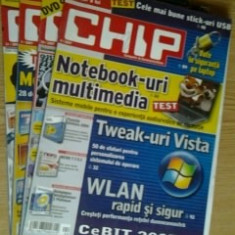 Revista CHIP - lot 4 reviste, nr.2, 4, 10, 12 / 2007 - Revista IT
