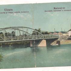 % carte postala (ilustrata)-ALBA-Ocna muresului(Uioara)-Inundatia anul 1924, Circulata, Printata