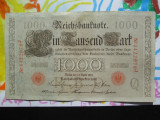1000 mark 1910 Germania , 1000 marci germane 1910 litera Q stampila rosie