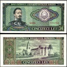 50 LEI 1966 aUNC aproape necirculata - Bancnota romaneasca