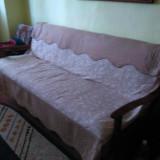 Vand urgent pat tip recamier model vechi, extensibil, 2 persoane, in stare buna - Pat dormitor, Dublu, Fag, Pat colt