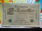 1000 mark 1910 Germania , 1000 marci germane 1910 serie  C stampila verde