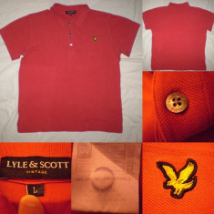 Tricou LYLE & SCOTT Vintage rosu L  barbati  ultras casual polo