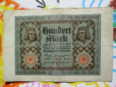 100 Mark 1920 Germania / marci germane / seria 24345443 foto