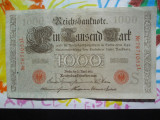 1000 mark 1910 Germania , 1000 marci germane 1910 litera S stampila rosie
