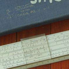 Vintage / rigla Tehnolemn Timisoara - rigla de calcul politehnica cu etui !!!
