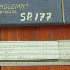Vintage / rigla Tehnolemn Timisoara - rigla de calcul cu etui !!! - Instrumente desen
