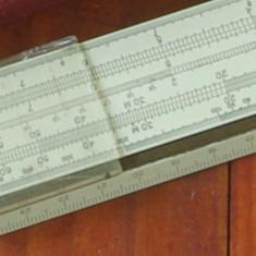 Vintage / rigla Tehnolemn Timisoara - rigla de calcul cu etui !!!