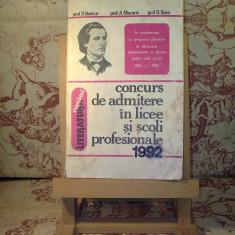 """S. Boatca - Literatura romana concurs de admitere ... """"A909"""""""