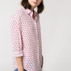 CAMASA MANGO by zara alb rosu bumbac, casual noua cu eticheta de hartie S - Camasa dama Mango, Marime: S, Maneca lunga