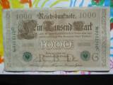 1000 mark 1910 Germania , 1000 marci germane 1910 seria  G stampila verde