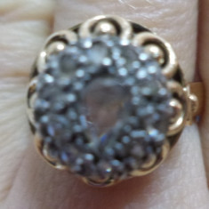 Inel cu diamante - Inel diamant, Carataj aur: 14k, Culoare: Galben