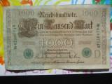 1000 mark 1910 Germania , 1000 marci germane 1910 seria  D stampila verde