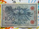 100 mark 1908 Germania , 100 marci germane 1908 serie portocalie