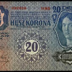 UNGARIA AUSTRIA 20 KORONA COROANE 1913 UNC necirculata - bancnota europa